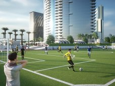 Paramount Miami Worldcenter soccer field